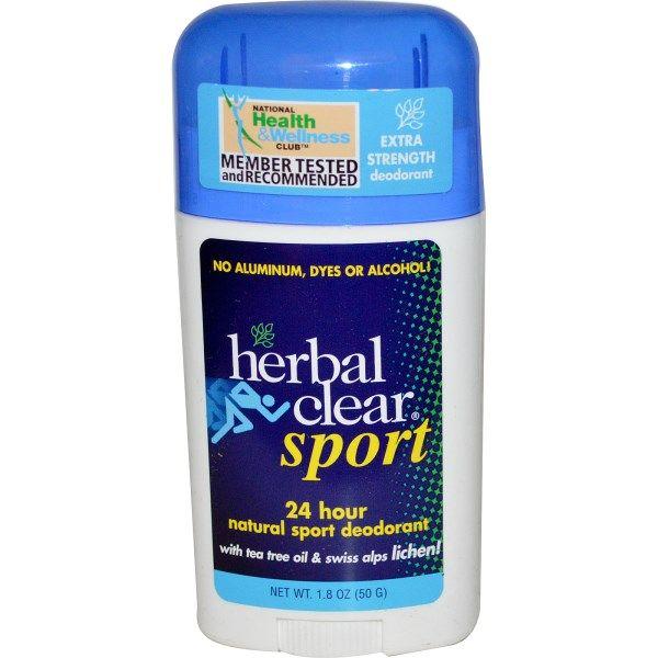 Herbal Clear, Спорт, натуральный дезодорант 24-часового действия, 1.8 унций (50…