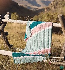 Paid crochet pattern on Ravelry Braided Cable Chevron Afghan by Crafting Friends Designs