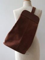 Vintage 80's grote suède buidel schouder/rugzak