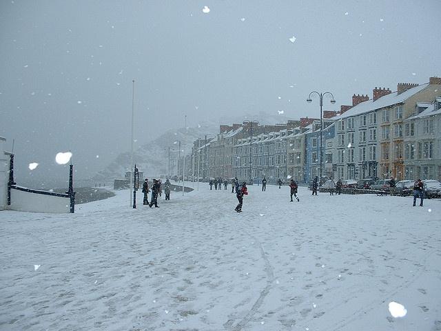 Aberystwyth Prommenade Under Snow, Ceredigion Wales UK by aberystwyth-online, via Flickr