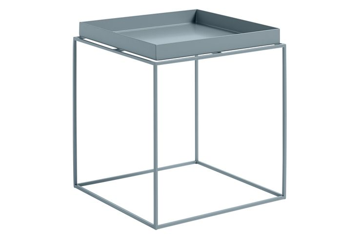 Tray Square Side Table Blue, Large by HAY