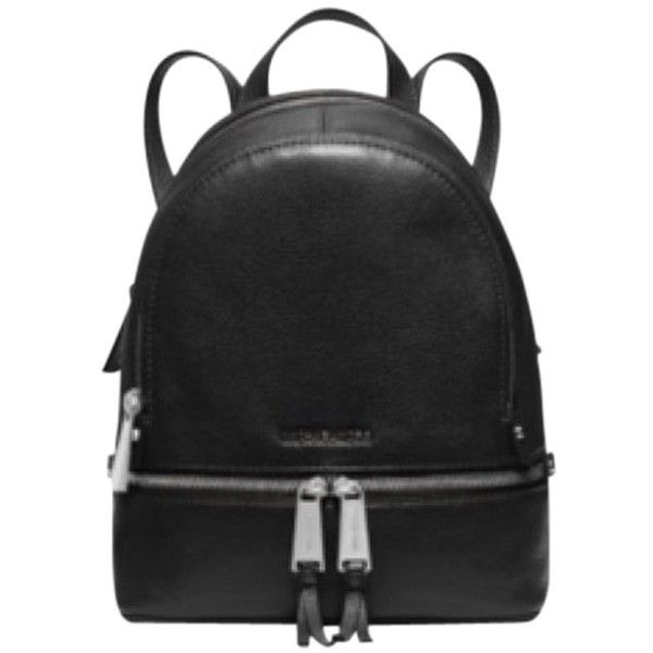 Pre-owned Michael Kors 30s5sezb8l Backpack (1.320 NOK) ❤ liked on Polyvore featuring bags, backpacks, black, michael kors bags, michael kors backpack, black bag, leather bags and leather knapsack
