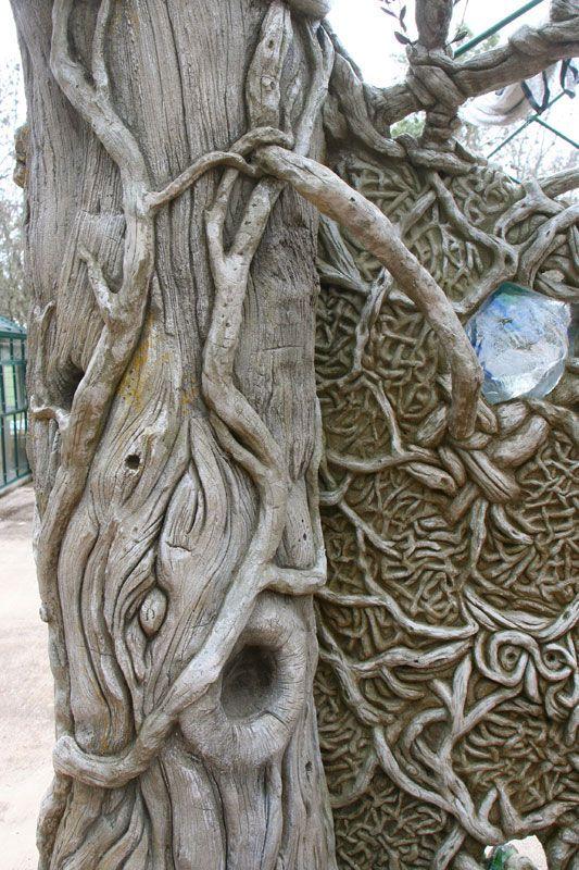 Detail Of Fantasy Faux Bois Cedar Tree Ferrocement Faux Bois Pinterest Faux Bois Fantasy