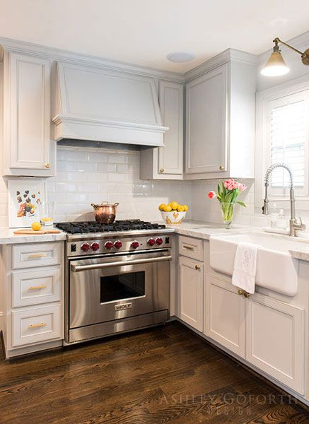 Classic traditional kitchen yet also modern | Ashley Goforth Design
