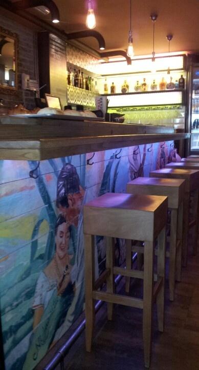 Detalle de la barra. Restaurante Mexicano. Gourmet Experience. Corte Inglés Callao. Madrid