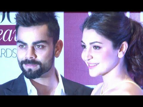 Anushka Sharma with boyfriend Virat Kohli at Vogue Beauty Awards 2015.