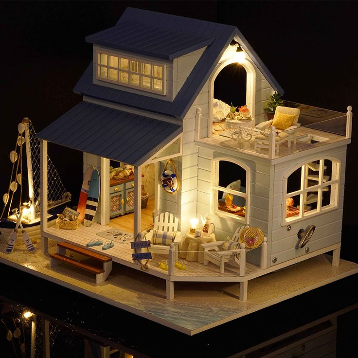 17 Best Ideas About Wooden Dollhouse On Pinterest