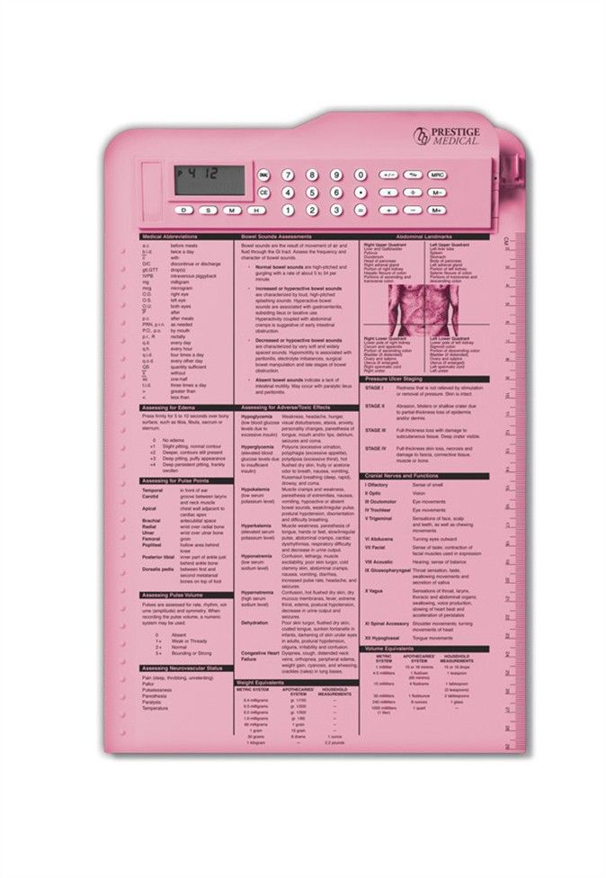 Prestige nurse assist clipboard. If only it didn't come in pink...