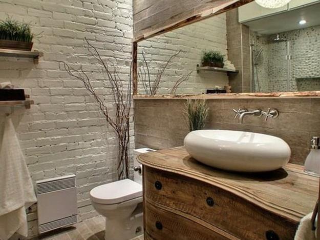 Azulejos Para Baño Recubre:Recubre la pared con ladrillos pintados de blanco para darle un aire