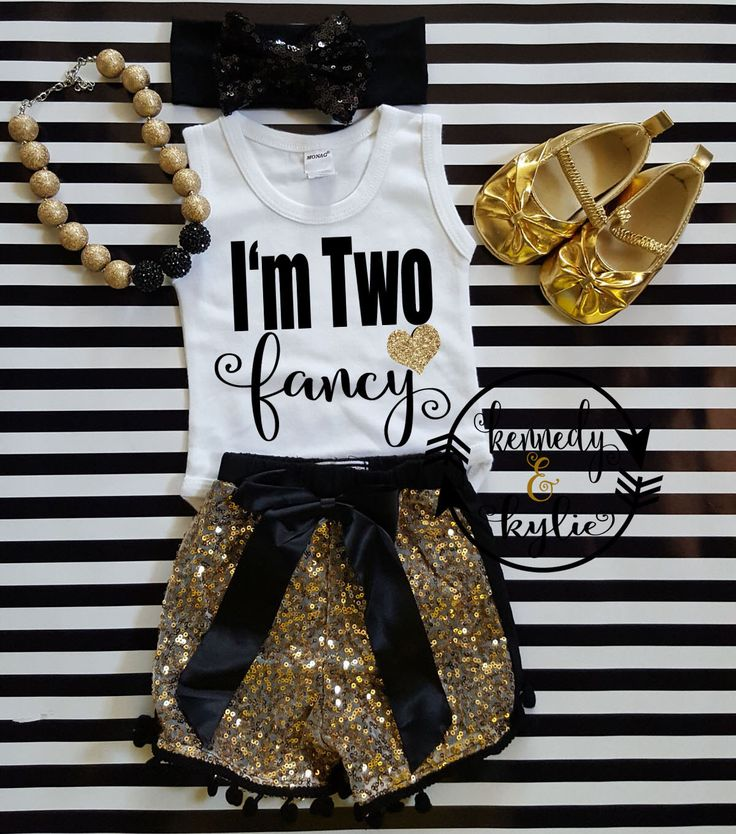 2nd Birthday Glitter Shirts - Cute Second I'm Two Fancy Black and Gold Birthday Shirt Tank Top Long Sleeves For Two Year Olds SHIRT ONLY by kennedyandkylie on Etsy https://www.etsy.com/listing/457319310/2nd-birthday-glitter-shirts-cute-second