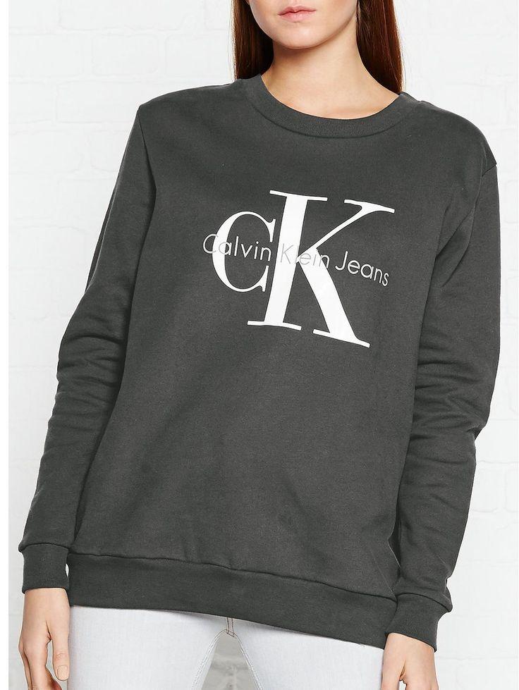 CALVIN KLEIN Crew Neck Ck Sweatshirt - Charcoal, https://www.veryexclusive.co.uk/calvin-klein-crew-neck-ck-sweatshirt-charcoal/1600005870.prd