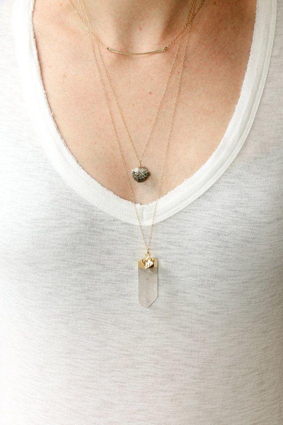 Crystal quartz necklace