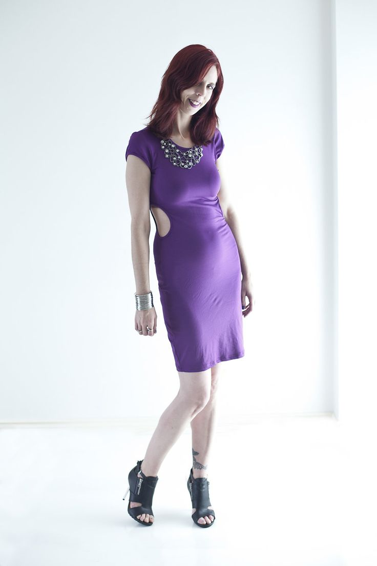 #Lurap Purple Cutout Dress #MyStyle #Fashion #PsStyle