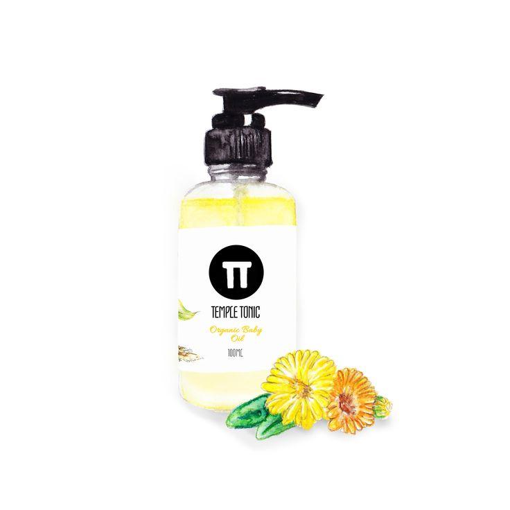 Temple Tonic Organic Baby Oil  http://www.templetonic.com/organic-baby-oil.html