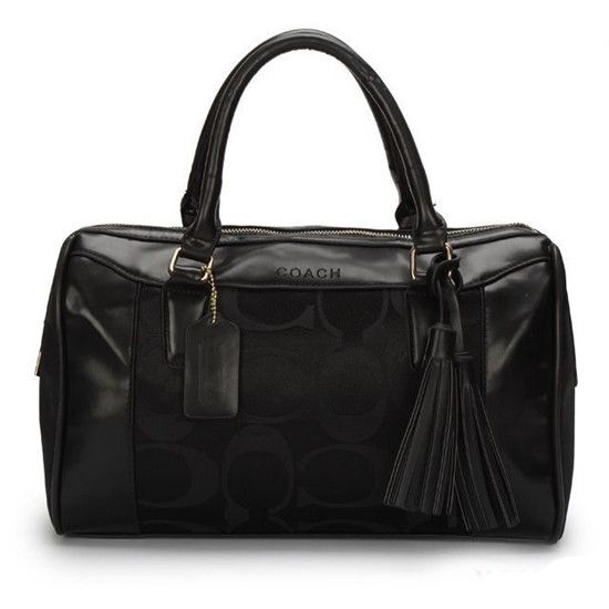Coach Legacy Haley Medium Black Satchel AVU ($64)