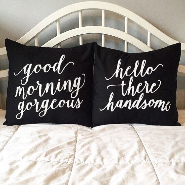 Hello There Handsom Pillow/ Good morning gorgeous pillow/ His and Hers Pillows/ Wedding gift/ bridal shower/ Husband and Wide Pillows by StichXStichCreations on Etsy https://www.etsy.com/listing/231549081/hello-there-handsom-pillow-good-morning