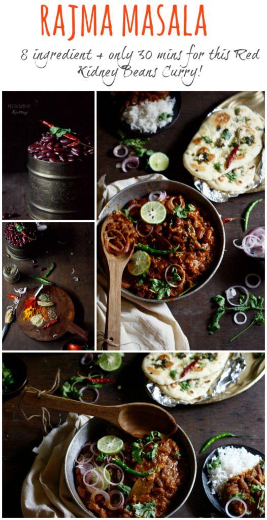 Rajma masala, il comfort food per eccellenza per tutti gli Indiani del Nord.  Fagioli rossi cotti in un masala delizioso o sugo di cipolle e pomodori, bolliti in garam masala fino morbida e profumata.  Confezionato in nutrienti e proteine, è l'accompagnamento ideale per riso cotto a vapore e aglio naan burro.
