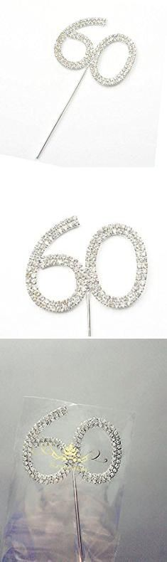 60th Cake Toppers. Rhinestone Crystal Silver Number 60 Birthday 60th Anniversary Cake Topper Rhinestone Crystal Silver Number 60 Birthday 60th Anniversary Cake Topper.  #60th #cake #toppers #60thcake #caketoppers