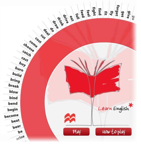 Macmillan Irregular Verb Wheel Game