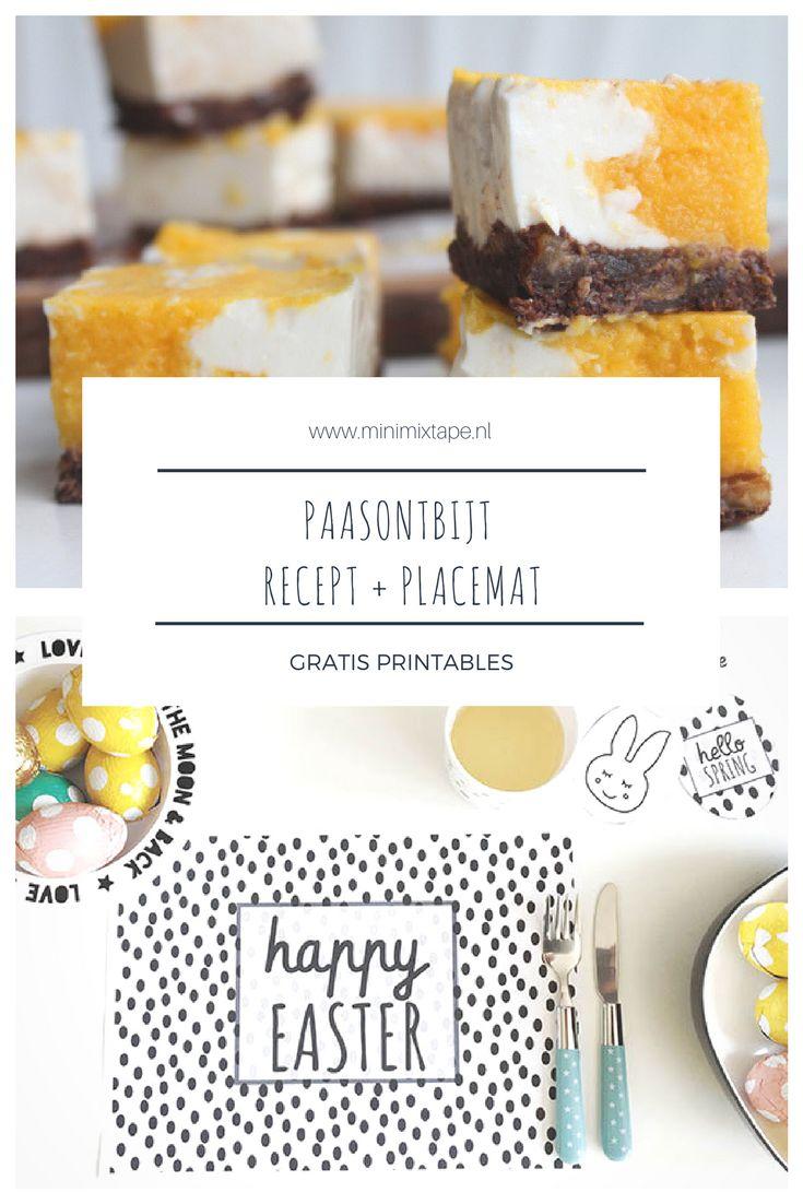 Printable placemat voor Pasen - download de placemat voor het paasontbijt gratis. Plus een heerlijk paasrecept