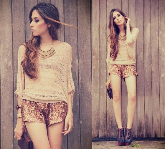 I need my hair to grow!!!: Outfits, Fashion, Style, Clothes, Glitter Short, Sequins, Sequined Shorts, Closet