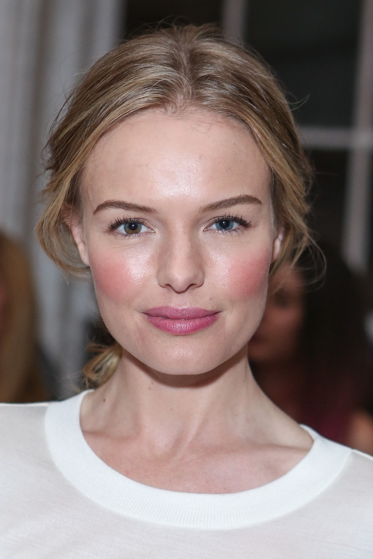 Kate Bosworth: #fresh #makeup, perfect for spring  summer: rosy, #pink cheeks  lips
