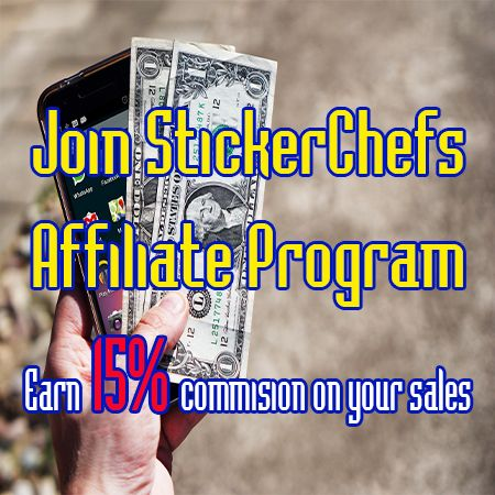 Do you have a blog or website that is about cornhole? How about making some extra cash by becoming our affiliate? Check out our site at stickerchef.com Earn 15% commissions on your sales! We pay out every $5.00 dollars you earn. Sign up here affiliatly.com/af-105472/affiliate.panel?mode=register