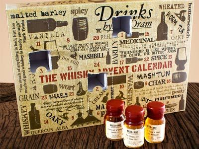 Whiskey Advent Calendar. Perfect gift for the whiskey lover in your life.
