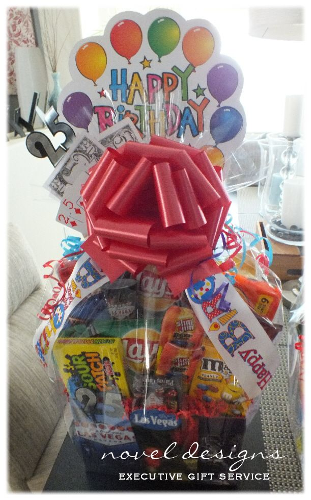 25th birthday gift basket for him : Best images about custom theme gift baskets on