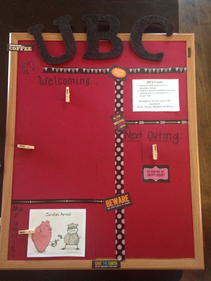 Nursing unit based council bulletin board