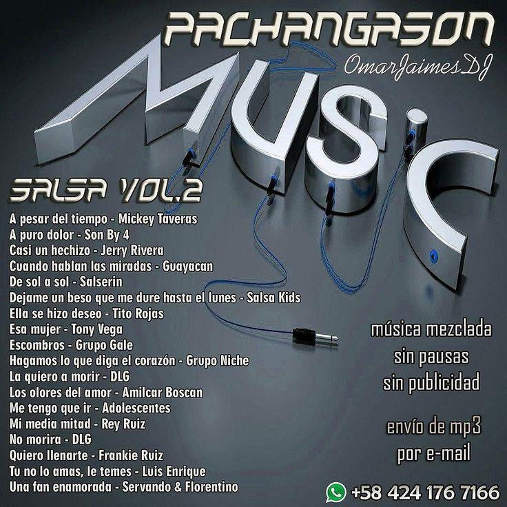 @pachangason -  #PachangaSon #Salsa Vol.2 #TuDJSinDJ Música sin pausas ni publicidad Ideal para rumbas eventos reuniones locales comerciales. Pedidos directamente al Whatsapp 58 424 176 7166 1 set Bs 8K / 2 sets Bs 15K / 3 sets Bs 20K /4 sets BS 25K / 5 sets Bs 30K Envíos por e-mail a cualquier parte donde te encuentres Realiza tu propio set de música. Nosotros la mezclamos... Cualquier ritmo de baile: #Bachata #Kizomba #Merengue #Reggaeton #Salsa #Timba #Vallenato #Latin #Urban #Balada…