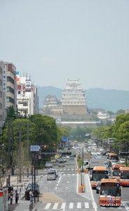Himeji Castle seen from Himeji station