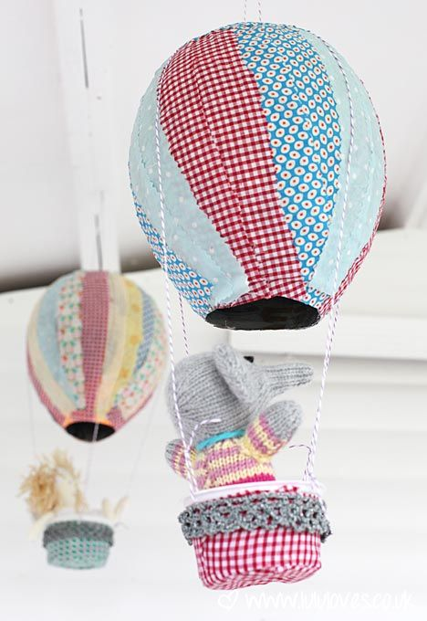 DIY paper mache hot air balloons #kids #rooms #balloons - how to fix the ones I've made!!