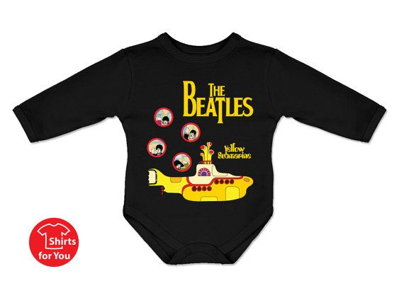 Baby onesie The Beatles Yellow Submarine future fan, high quality bodysuit - 4 sizes available