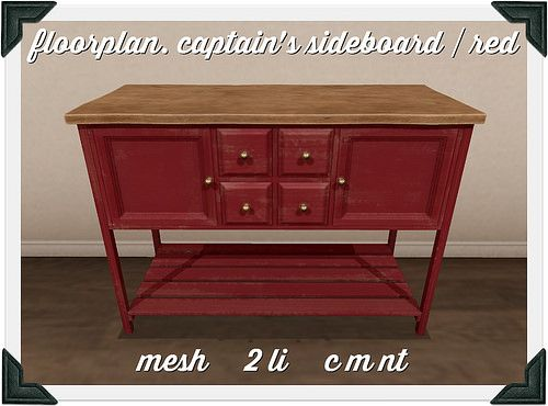 floorplan. captain's sideboard / red | Flickr - Photo Sharing!