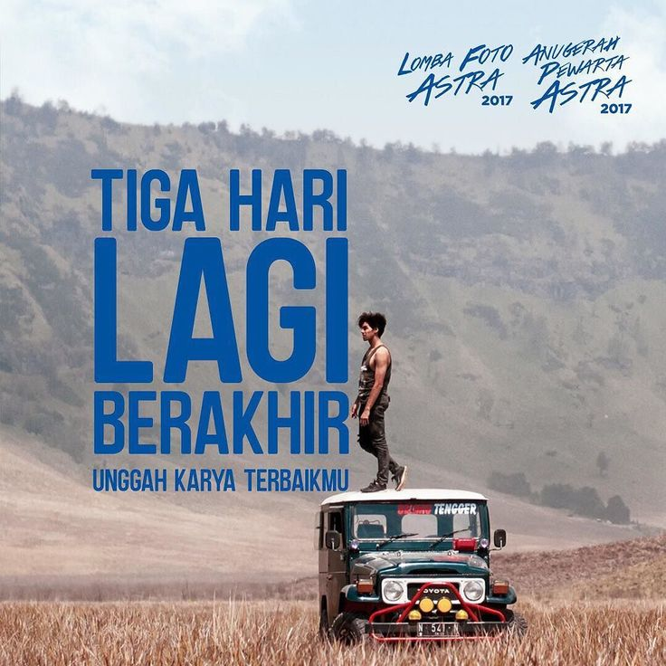 Masih ada kesempatan 3 hari lagi buat kamu untuk mendapatkan hadiah mobil Astra Daihatsu Ayla dan puluhan hadiah lainnya. Caranya mudah loh. Kirimkan karya foto terbaikmu mengenai keindahan alam Indonesia dengan objek orang di dalamnya di halaman http://ift.tt/2lhyqPl #LFAPA2017 #Astra60 #SATUIndonesia
