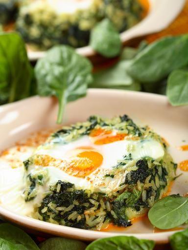 Recette Gratin d'épinards au riz, notre recette Gratin d'épinards au riz - aufeminin.com