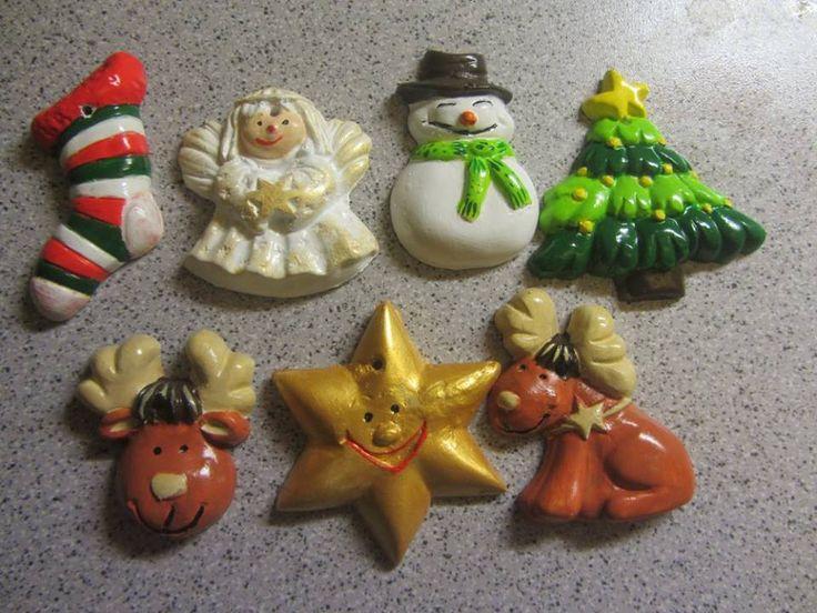 vánoční ozdoby jako magnet