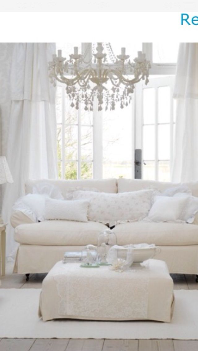 17 best images about white denim slip covers on pinterest for White shabby chic living room furniture