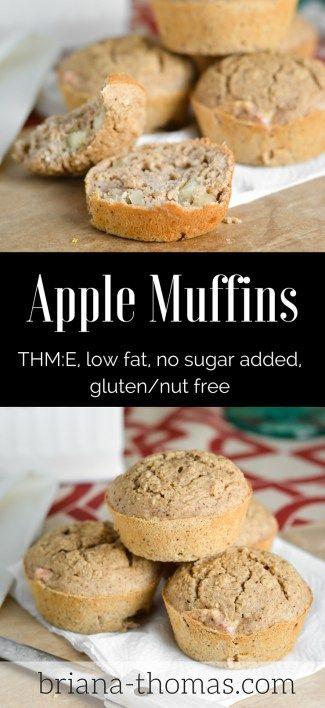 Apple Muffins...THM:E, low fat, no sugar added, gluten/nut free