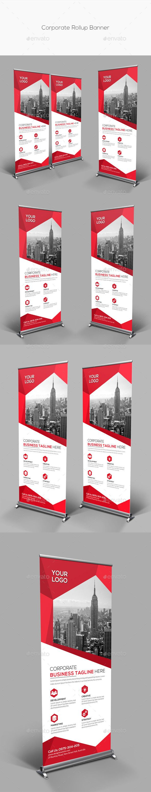Corporate Rollup Banner Template #design Download: http://graphicriver.net/item/corporate-rollup-banner/13168076?ref=ksioks