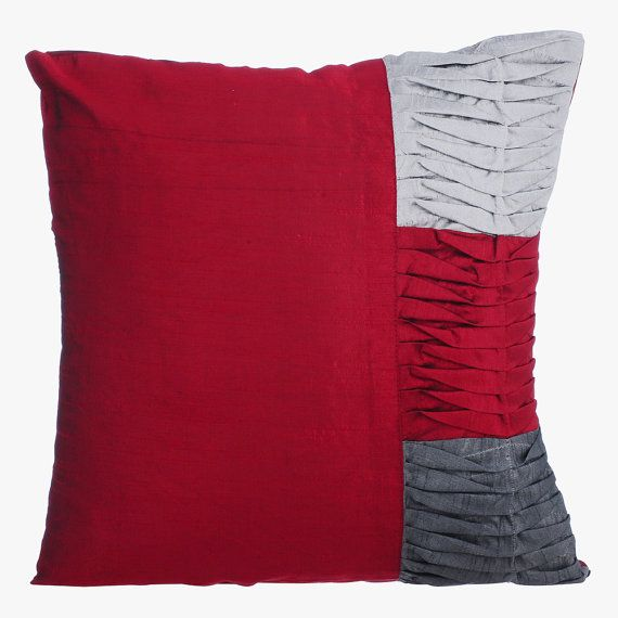 Red Decorative Throw Pillow Covers Couch Pillow Toss Sofa Bed