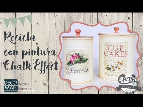 RECICLA TUS LATAS CON PINTURA CHALK EFFECT | DECOMAN - YouTube
