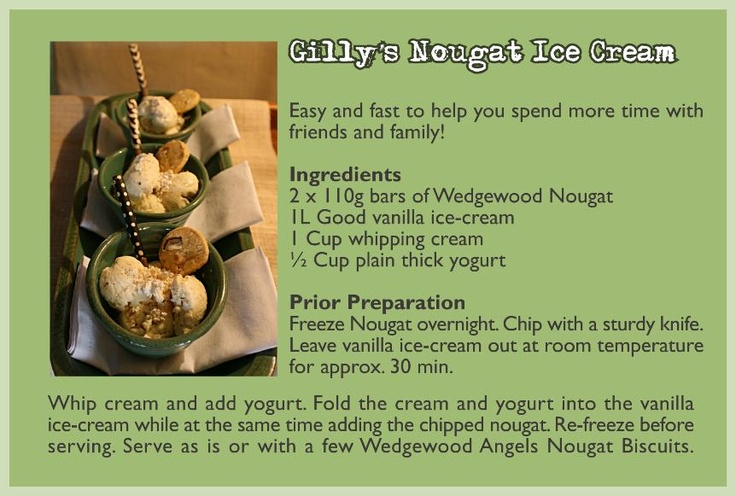 Simple & delicious Gilly Walter's Wedgewood Nougat recipe