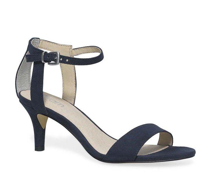 sandale petit talon marine - Sandales talon - Chaussures femme
