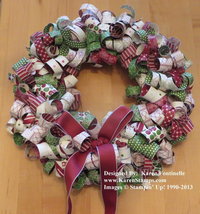 7 Best Images About Paper Strip Wreath On Pinterest