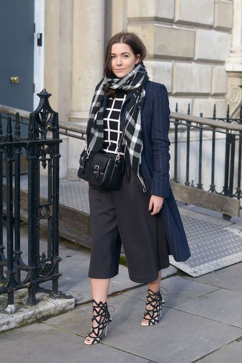 Street style-inspired ways to pull off culottes even if you aren't 7 feet tall....shoes to die for