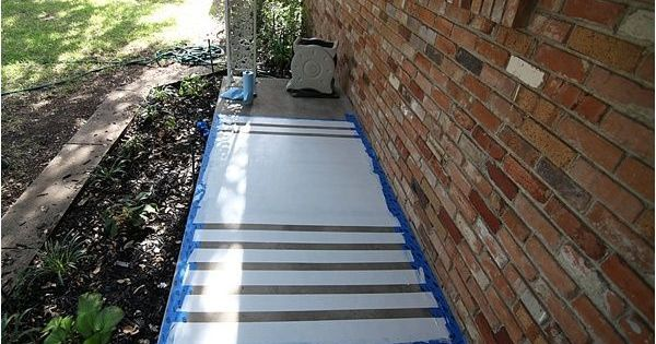 Liked on Pinterest: how to paint concrete
