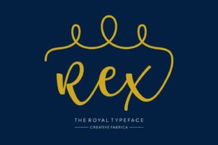 http://Rex means King in Latin. Which is very suitable for what we call a royal typeface with a modern twist. Rex is acontemporary font with hints to a royal past. Rex is packed with swashes that are super easy to access. It's decorative and super fun to use.