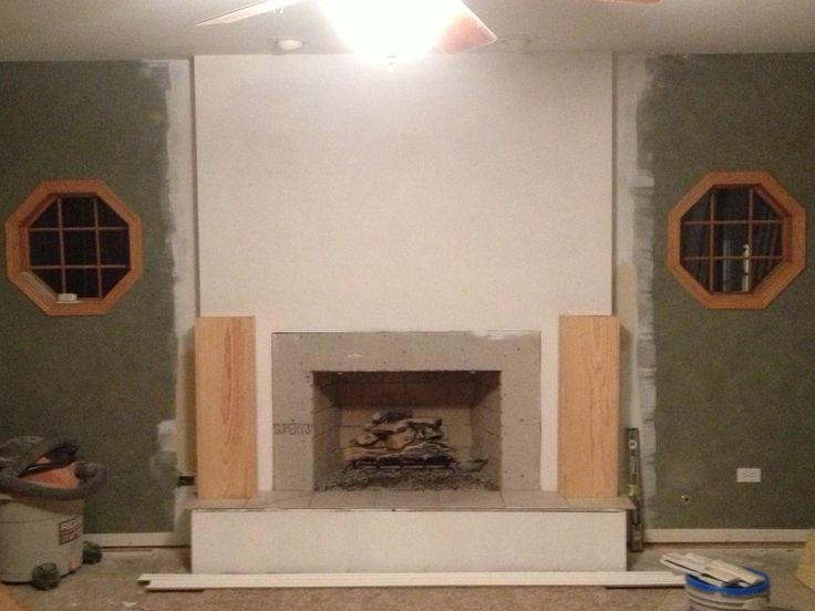 Fireproof Board Tile : Best images about step by fireplace remodel on